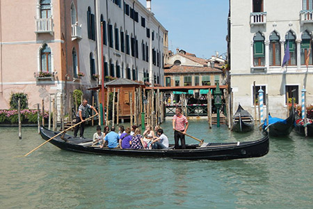 Traghetto gondola ferry on the Grand Canal in Venice