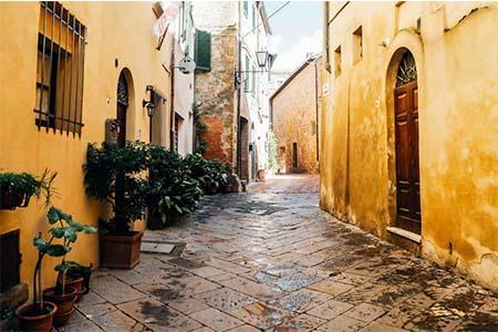 Street in Pienza, Italy
