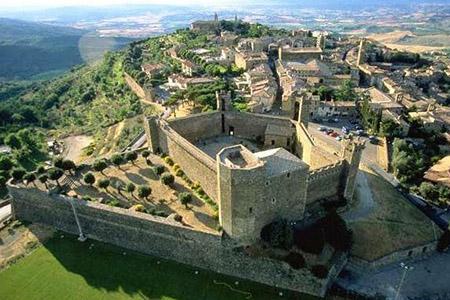 Ariel view of Montalcino